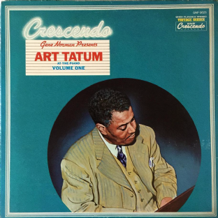 Art Tatum - Gene Norman Presents Art Tatum At The Piano Volume One (LP) (G-VG/VG-)